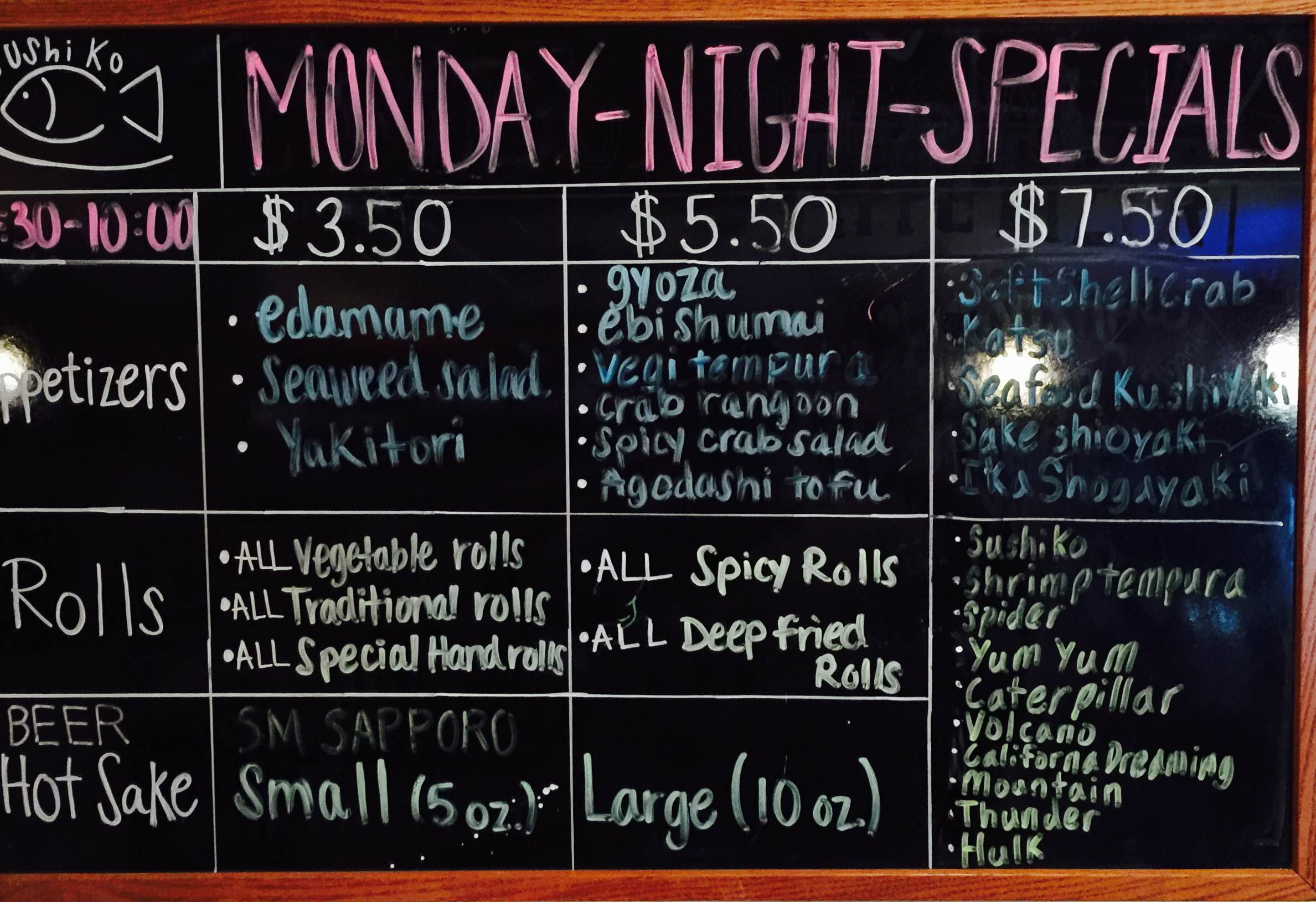 Monday Night Specials